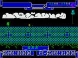 Hunchy ZX Spectrum Game start - avoid the moving object on this one.