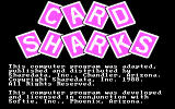 Card Sharks DOS Opening Screen