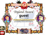 Babes in Toyland Windows Certificate of completion