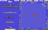 Battleship Commodore 64 When a piece turns green, that means you can move it