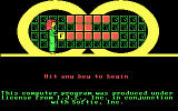 Wheel of Fortune DOS Second opener showing the developers