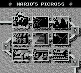 Picross 2 Game Boy Mario's Picross - World map