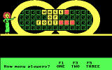 Wheel of Fortune DOS Choosing the number of players