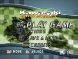 Kawasaki Snowmobiles Windows Title Menu.