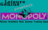 Monopoly DOS CGA Title Screen