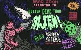 Better Dead Than Alien! Commodore 64 Title