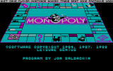 Monopoly DOS CGA 2nd Copyright Screen