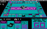 Monopoly DOS CGA Beginning the game