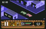 Beverly Hills Cop Commodore 64 Tailing a car in a quiet neighborhood