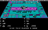 Monopoly DOS CGA Choosing your tokens and names