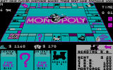 Monopoly DOS CGA Landing on a property