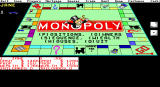 Monopoly DOS EGA Screen showing Player Stats at the bottom