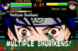 Naruto: Ninja Council Game Boy Advance Sasuke using Multiple Shurikens to Rock Lee