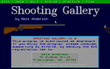 Shooting Gallery DOS The Opening Screen