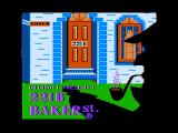221 B Baker St. Apple II Title screen