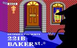221 B Baker St. DOS Title screen (EGA)