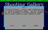 Shooting Gallery DOS Help Screen