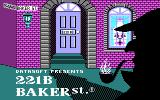 221 B Baker St. DOS Title screen (CGA)