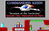 Commander Keen 1: Marooned on Mars DOS Opening Screen