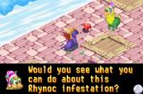 Spyro: Season of Ice Game Boy Advance A person asking you to get rid of the Rhynocs