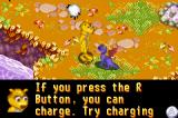 Spyro: Season of Ice Game Boy Advance Hunter talking to you about game controls