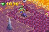 Spyro: Season of Ice Game Boy Advance Striking an enemy at Lava Prairie