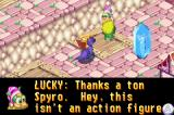 Spyro: Season of Ice Game Boy Advance When you complete a mission the screen takes you back to the person who asked you and a crystal with a trapped fairy inside appears
