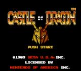 Castle of Dragon NES Title screen (US)