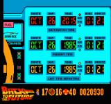 Back to the Future Part II & III NES The year screen on the time machine