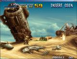 Metal Slug: Collector's Edition Windows Typical game screen: you control your character and shoot everything in sight.
