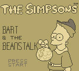 The Simpsons: Bart & the Beanstalk Game Boy Title Screen