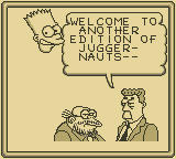 The Simpsons: Bart vs. the Juggernauts Game Boy Your Commentators