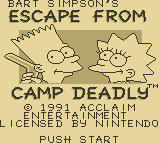 Bart Simpson's Escape from Camp Deadly Game Boy Title Screen