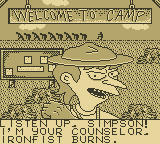 Bart Simpson's Escape from Camp Deadly Game Boy Ironfist Burns