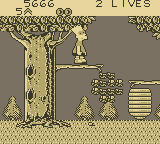 Bart Simpson's Escape from Camp Deadly Game Boy The Forest