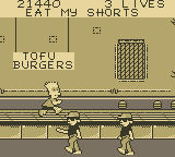 Bart Simpson's Escape from Camp Deadly Game Boy Mess Hall