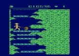 Salmon Run Atari 8-bit Multiple hazards together can make things near-impossible