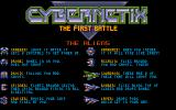 Cybernetix Atari ST The different enemies