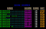 S-Tetris DOS High Scores screen