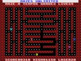 Mazes Unlimited MSX Playing the first maze