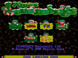 Xmas Lemmings DOS Xmas Lemmings 1991 Demo start screen
