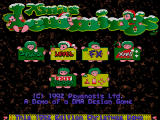 Xmas Lemmings DOS Xmas Lemmings 1992 Demo start screen