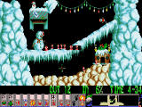 Xmas Lemmings DOS Xmas '92 - playing Level 1