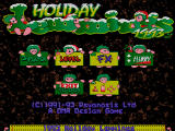 Holiday Lemmings DOS Holiday Lemmings 1993 start screen