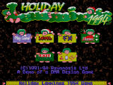 Holiday Lemmings 1994 demo start screen