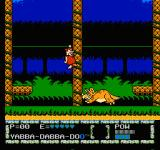 The Flintstones: The Surprise at Dinosaur Peak! NES The first boss fight