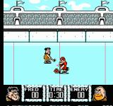 The Flintstones: The Surprise at Dinosaur Peak! NES This is a bonus stage where you have to beat this guy at hockey to win a prize.