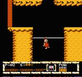 The Flintstones: The Surprise at Dinosaur Peak! NES Barney on the third stage
