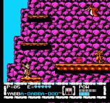 The Flintstones: The Surprise at Dinosaur Peak! NES The stage before the sub-final boss battle