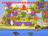 Worms Blast Windows Puzzle mode offers many challenges...